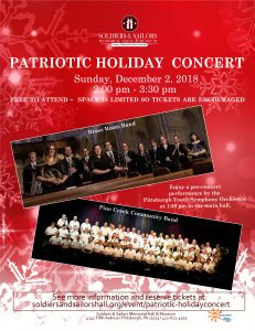 Patriotic Holiday Concert @ Soldiers & Sailors Memorial Hall & Museum Trust, Inc.