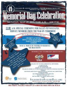 Memorial Day Celebration @ Soldiers & Sailors Memorial Hall & Museum
