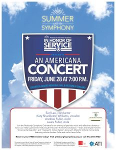 In Honor of Service: An Americana Concert @ Soldiers & Sailors Memorial Hall & Museum