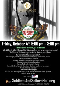Special Exhibit: The Silence of the Lambs @ Soldiers & Sailors Memorial Hall & Museum