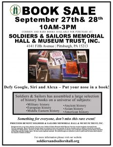 Soldiers & Sailors Book Sale @ Soldiers & Sailors Memorial Hall & Museum
