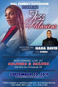 Jess Hilarious Comedy Show @ Soldiers & Sailors Memorial Hall & Museum