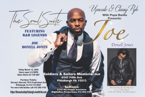 Upscale & Classy Pgh presents Joe featuring Donell Jones @ Soldiers & Sailors Memorial Hall & Museum